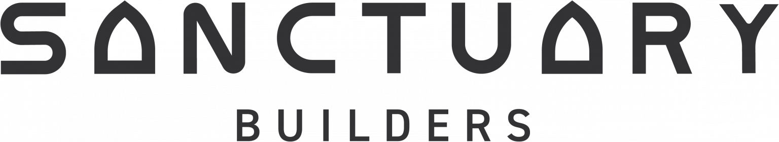 Sanctuary Builders Logo Full GRAY